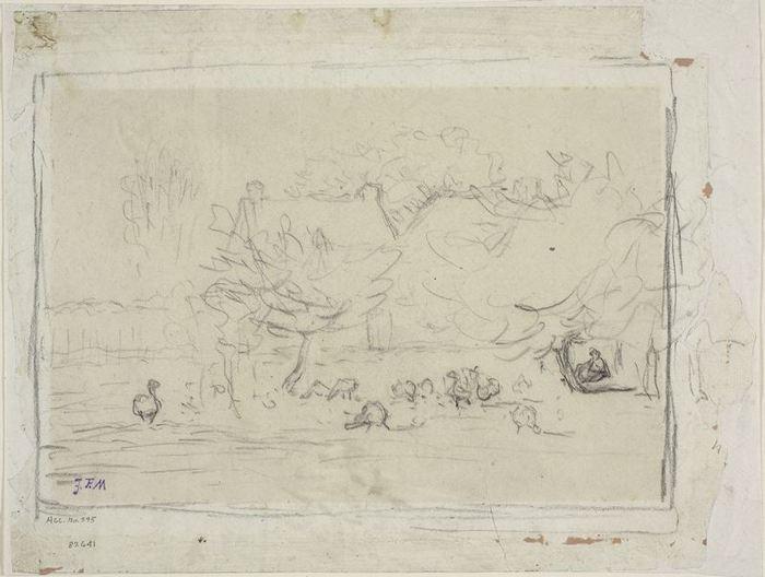 Geese in a Farmyard, c. 18711