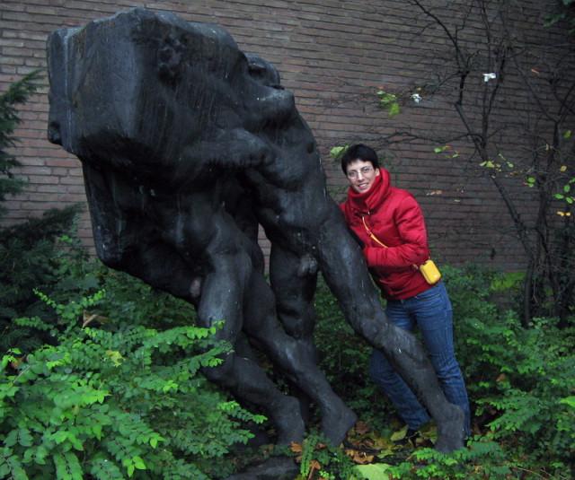 Скромная скульптурная группа на одной из улиц Оснабрюка