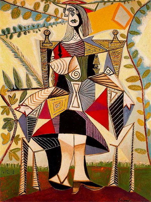 Pablo-Picasso_Seated-woman-in-garden_1938
