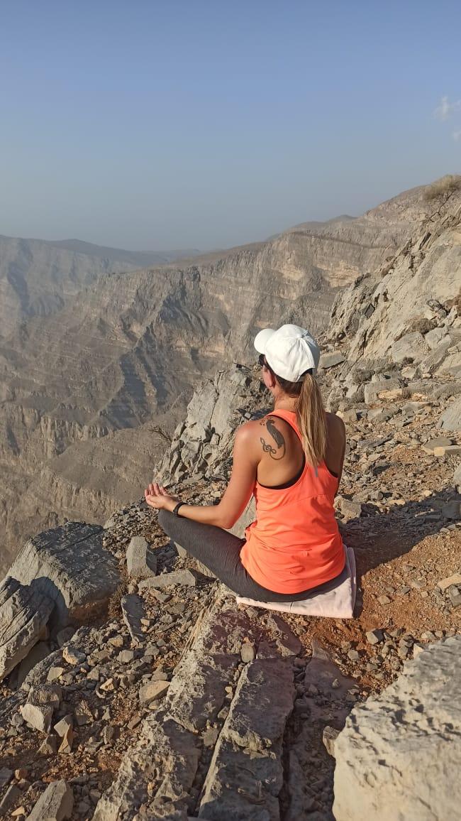 Медитирую в горах