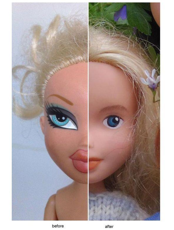 Как сделать для кукол все для макияжа