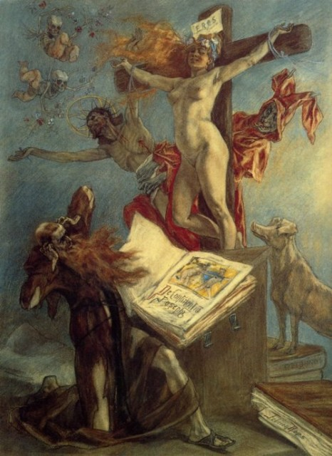 Felicien Rops - The Temptation of St. Anthony