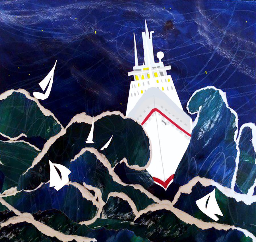 лодка гонимая ветром