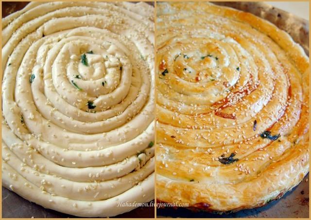 Пироги со слоеным тестом с фото пошагово