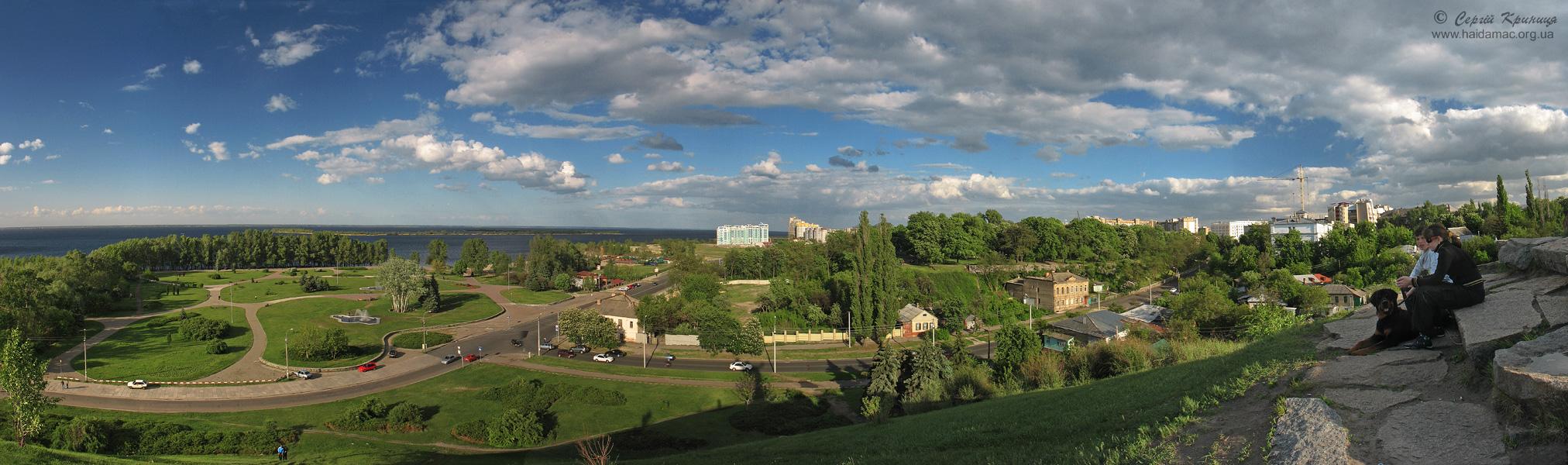 Панорама з пагорбу Слави