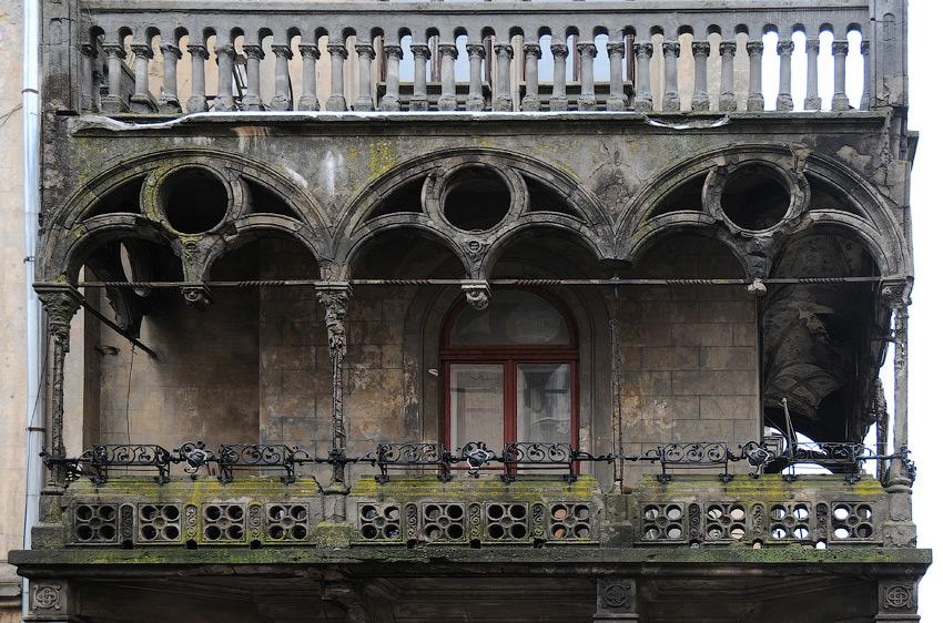 балкон видатний, але потребує реставрації