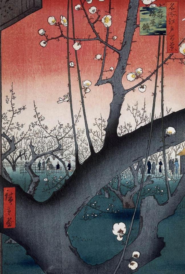Андо Хиросигэ «Цветущий сливовый сад в Комэйдо»