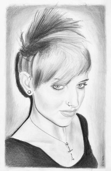 Shanna Vincent b&w by Stefan von Deutschland