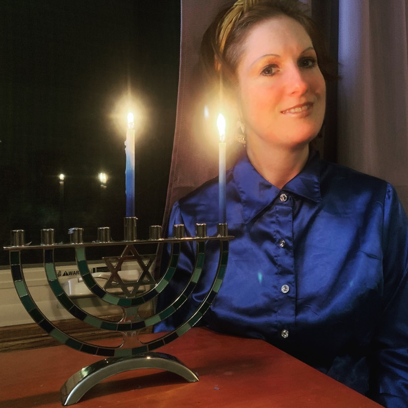 Photo taken the first day of Hanukkah on Dec 10th. Today's the 4th day of lights. :)
