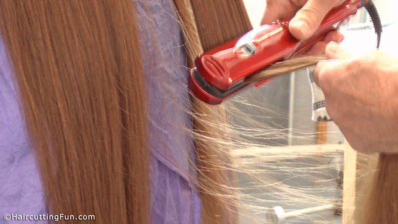 Close up of ironing