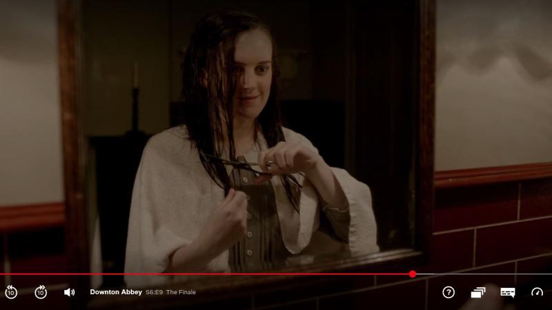 Daisy cutting her hair