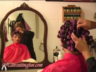 pink brush rollers haircuttingfun