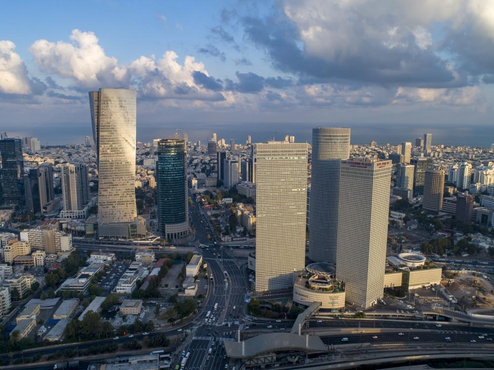 Сегодня будут только картинки с квадрокоптера) Деловой центр Тель-Авива, слева даже видно высотку, в которой я сейчас работаю