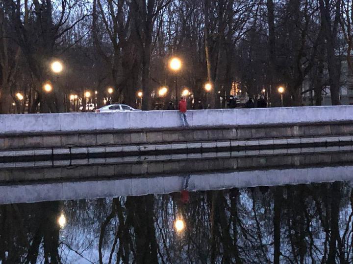Задержание в парке Марата Казея, Минск, около 20:00 25 марта 2021
