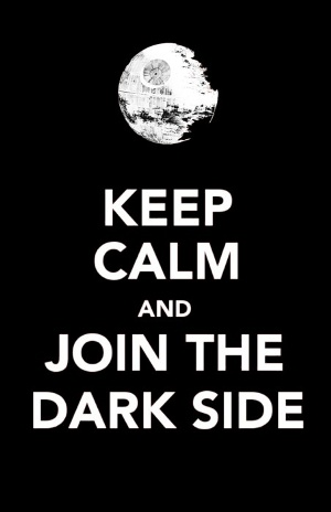 SW-keep calm-dark side