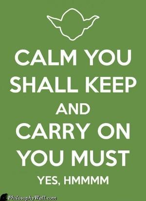 keep calm-yoda