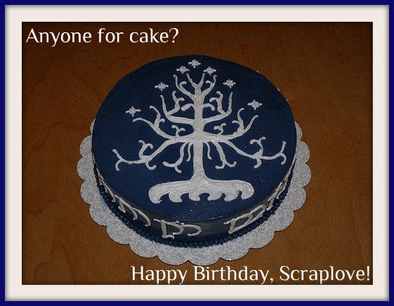 LOTR cake-scraplove bday