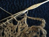 завершающий ряд салфетки спицами,hanima