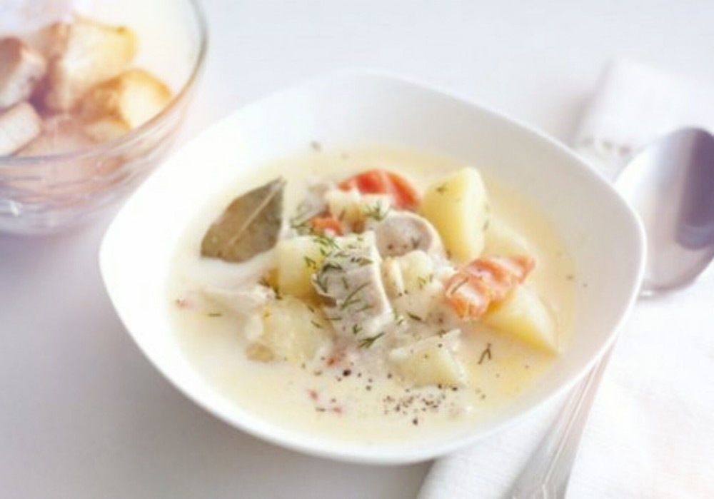 Суп сырный из плавленного сыра с курицей рецепт пошагово