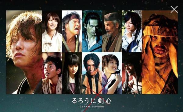 Rurôuni Kenshin The Great Kyôto Fire arc_cast promo photo