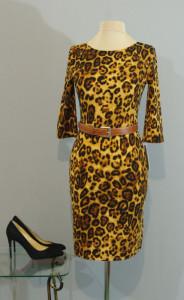 Теплое маленькое леопардовое платье, Киев, Украина