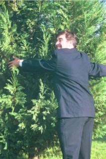 huggin' a tree...