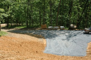 mostly finished driveway
