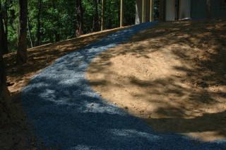 Path to basement door