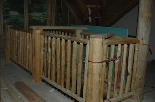 Stair rail in place, but not installed yet