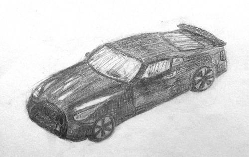 «Машина». Рисование с натуры. Простые карандаши. Андрей, 13 лет