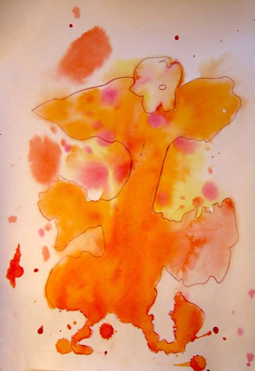 «Дракоша», кляксография. Настя, 7 лет