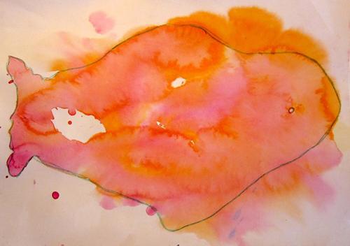 «Рыба», кляксография. Настя, 7 лет