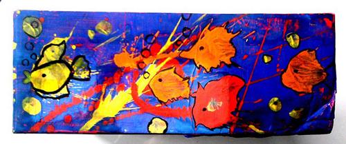 «Рыбки». Кляксография. Катя, 12 лет.