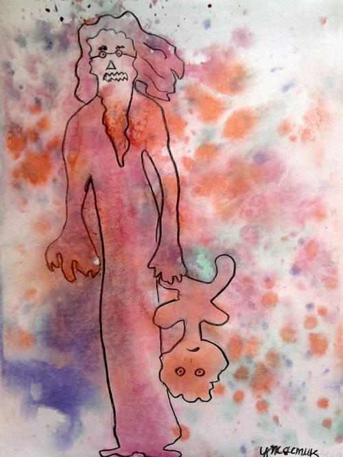 «Ужастик», поиск образов в кляксах. Полина, 7 лет