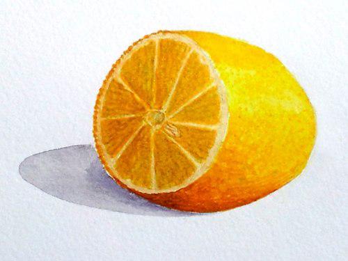 «Лимон», акварель. Юля, взрослые