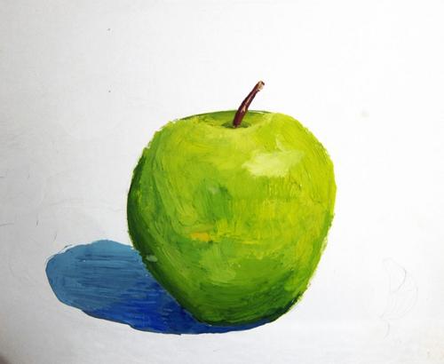 «Яблоко», гуашь Лиза, 13 лет