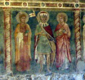 San Flaviano e due sante