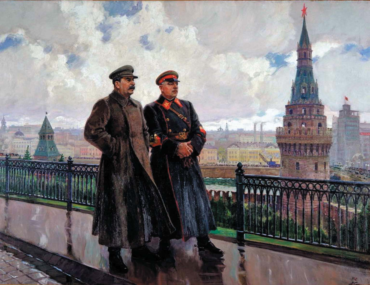 A._Gerasimov_Stalin-and-Voroshilov