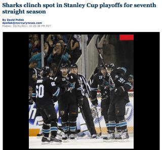 Sharks clinch playoff spot 2011