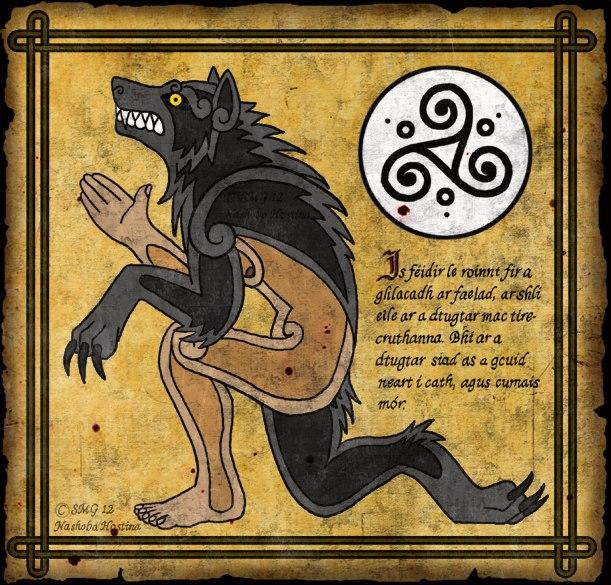 fantastic celtic werewolf image