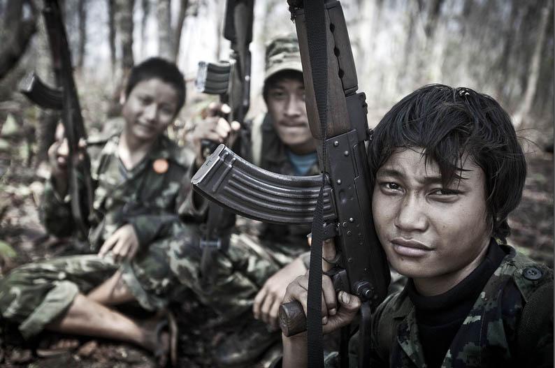Бойцы Каренского национального союза
