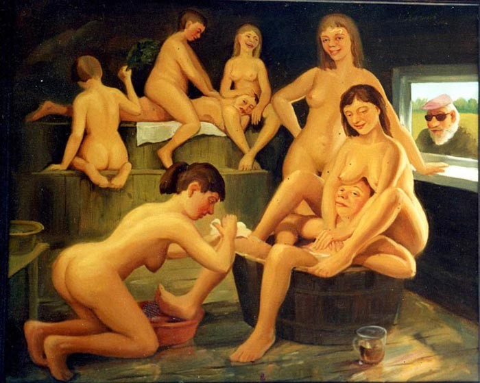 Русская эротика баня