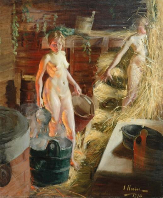Женщина в деревенской бане, смотреть порно дома в жопу