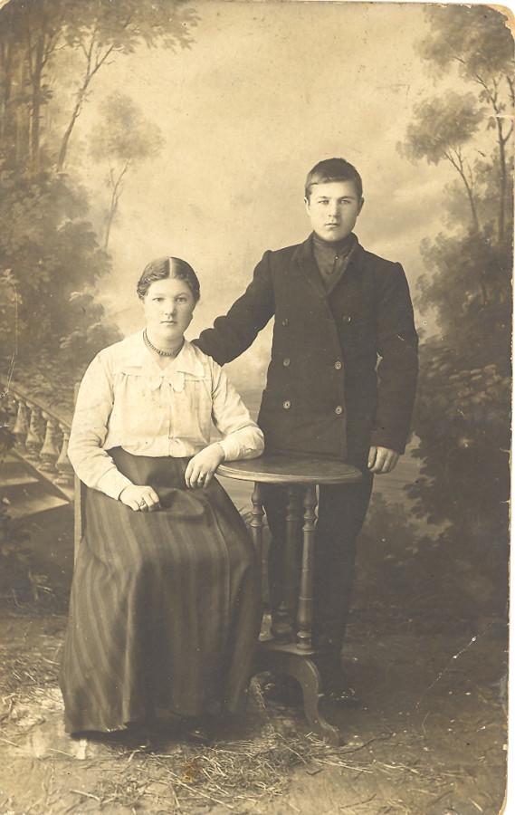 Мушкина  Кузьминична с братом Николаем