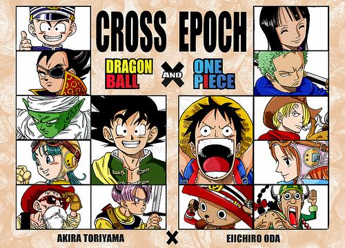 Kết quả hình ảnh cho dragon ball vs one piece cross