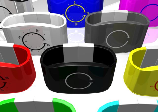 Оригинальные дизайнерские часы Broken Rings