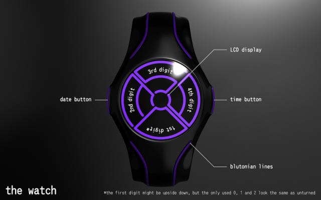 Часы V-BL47 с планеты Bluton
