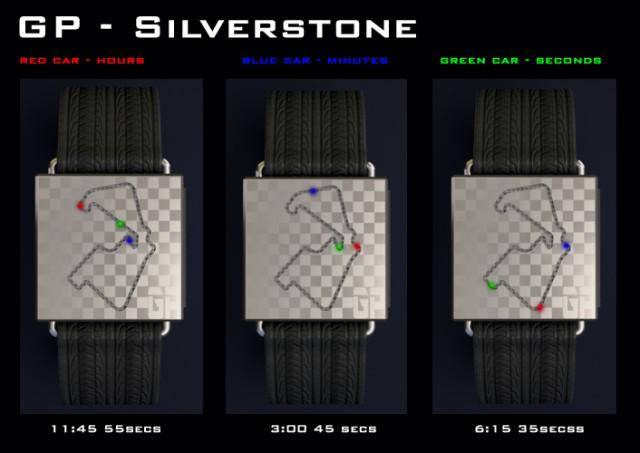Дизайнерские часы GP race