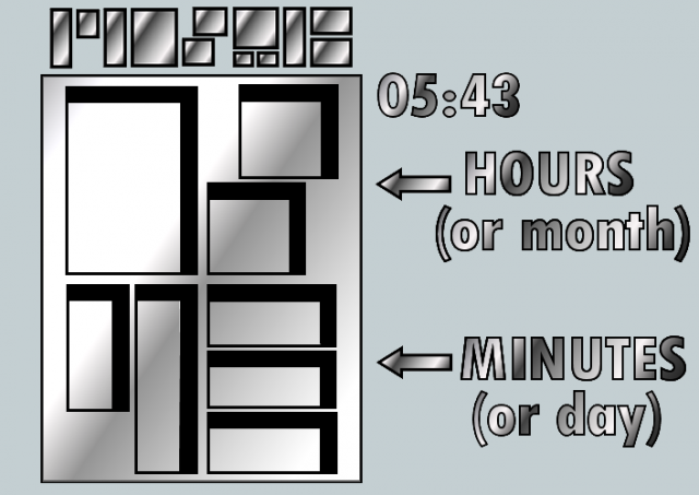 Наручные часы Mosaic LCD watch