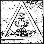 Рис. 75. Картина, обладающая тремя обликами тримурти. Треугольник символизирует тенденцию вселенной к схождению в точке единства. Черепаха олицетворяет Вишну, а лотос, вырастающ